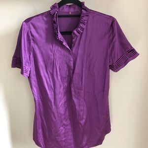 Tops - Purple Silk Blouse
